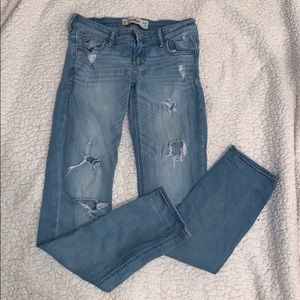 Hollister ripped boyfriend jeans